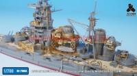 TetraSE-70004   1/700 IJN HARUNA 1944. 6 / 10 Detail up set w/ Barrel & Wooden Deck for FUJIMI (attach7 36660)