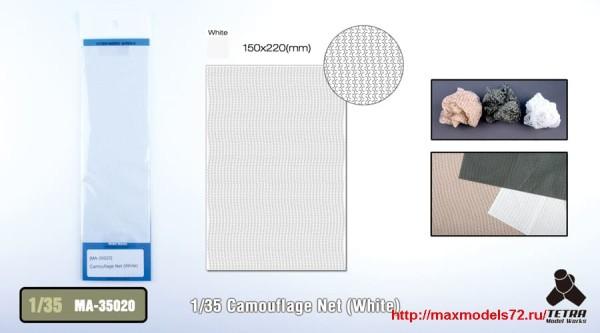 TetraMA-35020   1/35 Camouflage Net (White) (thumb33529)