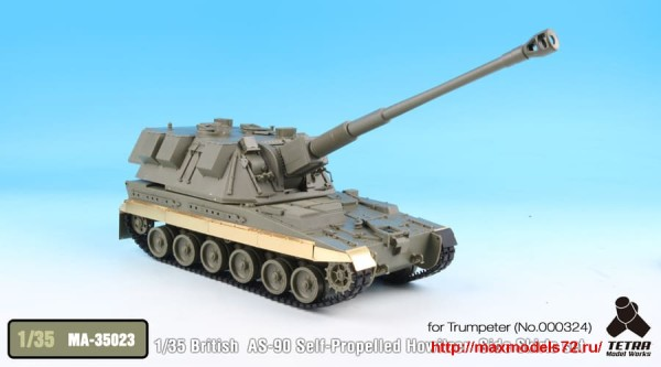 TetraMA-35023   1/35 British AS-90 Self-Propelled Howitzer  Side Skirts set for Trumpeter (thumb33554)