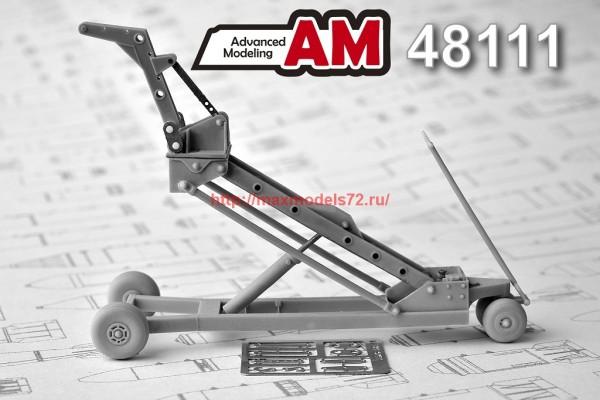 АМС 48111   Кран-тележка с гидроподъемником для подвески  авиабомб калибром до 500 кг (thumb37400)