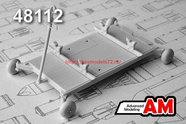 АМС 48112   Тележка универсальная для транспортировки боеприпасов и аэродромного оборудования (thumb37402)
