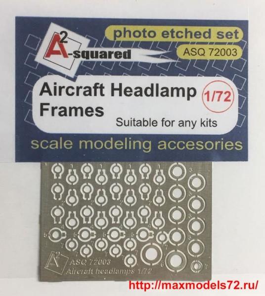 A-squared72003   Aircraft headlamp frames  for any kit  Окантовка фар современной авиации (thumb38559)