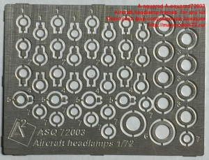 A-squared72003   Aircraft headlamp frames  for any kit  Окантовка фар современной авиации (attach3 38559)