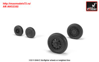 AR AW32302   1/32 F-104A/C Starfighter early type wheels, w/ optional nose wheels, weighted (attach3 31350)