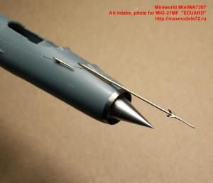 "MiniWA7267   Air intake, pitots for MiG-21MF  ""EDUARD"" (attach1 32400)"