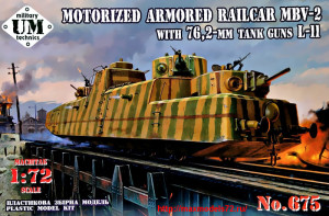 UMT675   MBV-2 motorized armored railcar with 76,2-mm tank guns L-11 (thumb27979)