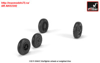 AR AW32302   1/32 F-104A/C Starfighter early type wheels, w/ optional nose wheels, weighted (attach2 31350)