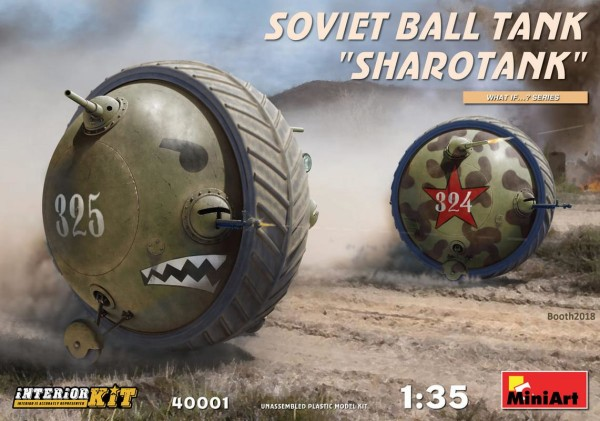 "MA40001  Soviet ball tank ""Sharotank"". Interior kit (thumb34463)"