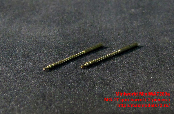 MiniWA7260a   MG-17 gun barrel ( 2 pieces ) (thumb32366)