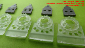 OKBS72364   Commander cupola for Panther ausf. F (4 per set) (attach1 31928)