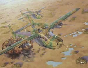 """RN628   Reims Cessna FTB337G Lynx """"Bush war"""" (thumb34385)"""