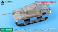 TetraME-35062   1/35 Pz.Kpfw.V Panther Ausf.G Detail-up Set w/ Side Skirts for ACADEMY (attach1 39014)