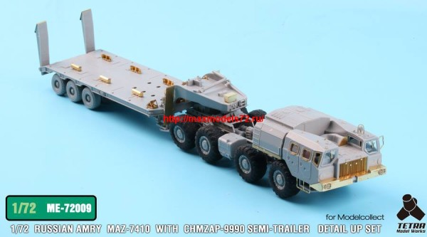 TetraME-72009   1/72 Russian MAZ-7410 w/ChMZAP-9990 Semi-Trailer  for Modelcollect (thumb32230)