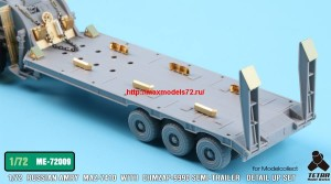 TetraME-72009   1/72 Russian MAZ-7410 w/ChMZAP-9990 Semi-Trailer  for Modelcollect (attach5 32230)