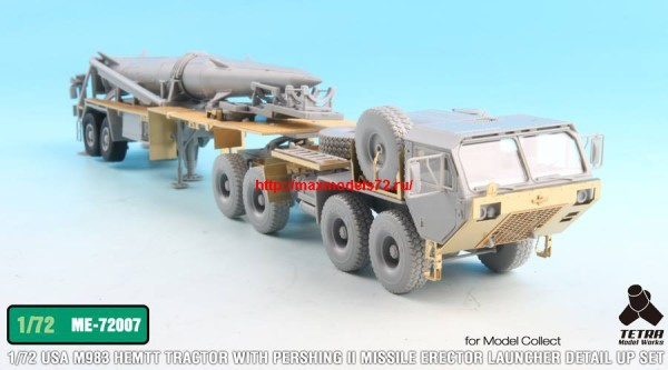 TetraME-72007   1/72 USA M983 Tractor w/Pershing II Missile Erector Launcher Detail up set for Model collect (thumb32210)