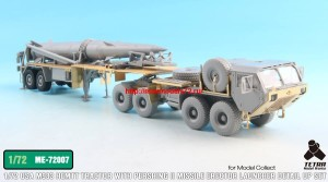 TetraME-72007   1/72 USA M983 Tractor w/Pershing II Missile Erector Launcher Detail up set for Model collect (attach9 32210)