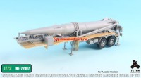 TetraME-72007   1/72 USA M983 Tractor w/Pershing II Missile Erector Launcher Detail up set for Model collect (attach5 32210)