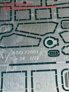A-squared72001   SU-34 - Exterior PE set  for Trumpeter kit (#01652) (attach5 34661)