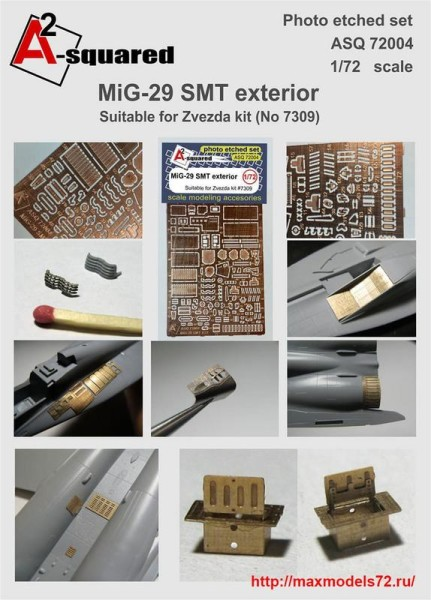 A-squared72004   MIG-29  SMT  exterior set  for Zvezda kit (#7309) (thumb38959)