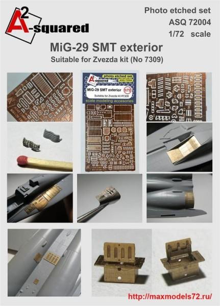 A-squared72004   MIG-29  SMT  exterior set  for Zvezda kit (#7309) (thumb38959)