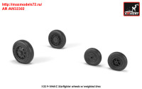 AR AW32302   1/32 F-104A/C Starfighter early type wheels, w/ optional nose wheels, weighted (attach1 31350)