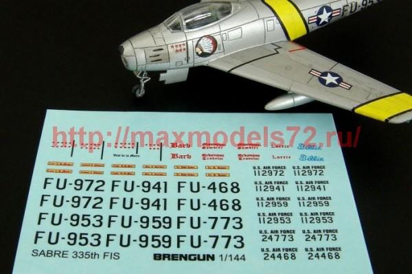 BRL144084   F-86F SABRE 335th FIS decal (thumb35367)