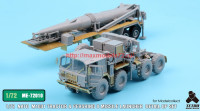TetraME-72010   1/72 NATO M1001 Tractor & Pershing II Missile Launcher Detail up set  for Modelcollect (attach4 34054)