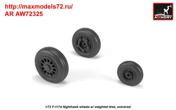 AR AW72325   1/72 F-117A wheels w/ weighted tires (thumb35805)