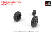 AR AW72325   1/72 F-117A wheels w/ weighted tires (attach1 35805)