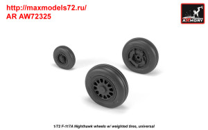 AR AW72325   1/72 F-117A wheels w/ weighted tires (attach2 35805)