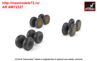 AR AW72327   1/72 B-36 Peacemaker wheels w/ weighted tires & optional nose wheels (attach3 35810)