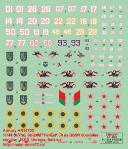 "AR14702   1/144 Sukhoj Su-24M ""Fencer"" in ex-USSR countries service: USSR, Ukraine, Belarus"" (attach9 35815)"