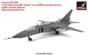 "AR14702   1/144 Sukhoj Su-24M ""Fencer"" in ex-USSR countries service: USSR, Ukraine, Belarus"" (attach1 35815)"