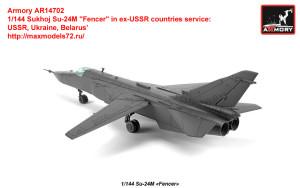 "AR14702   1/144 Sukhoj Su-24M ""Fencer"" in ex-USSR countries service: USSR, Ukraine, Belarus"" (attach3 35815)"