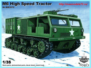 BM3570   M6 High speed tractor w. metal track (thumb33801)