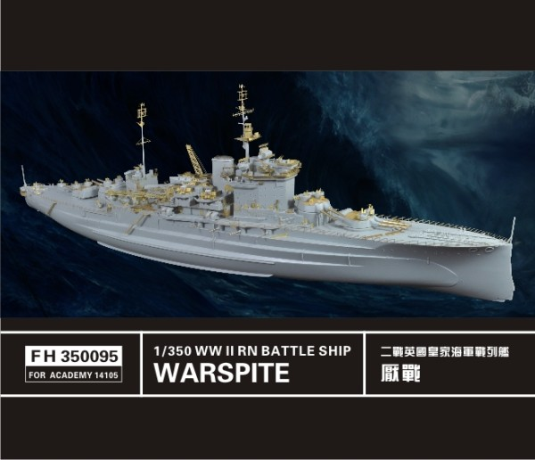 FH350095   WW II RN Battle Ship Warspite (for Academy 14105) (thumb32851)