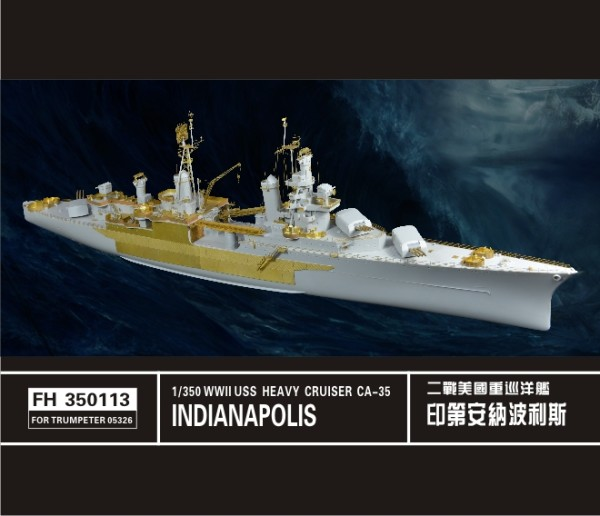 FH350113   USS WWII Heavy Cruiser Indianapolis CA-35(ForTrumpeter 05326) (thumb32881)
