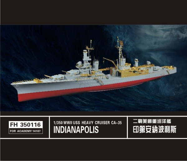 FH350116   USS WWII Heavy Cruiser Indianapolis CA-35(ForAcademy14107) (thumb32885)