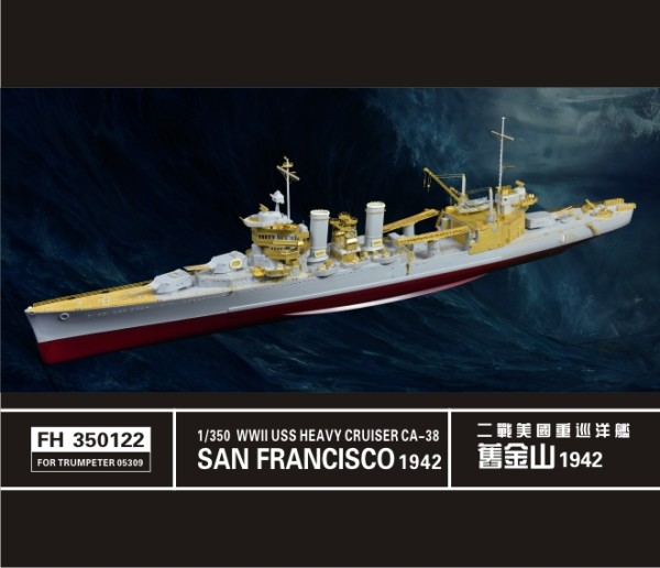 FH350122   WWII USS Heavy Cruiser San Francisico CA-38 1942(For Trumpeter 05309) (thumb32891)