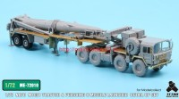 TetraME-72010   1/72 NATO M1001 Tractor & Pershing II Missile Launcher Detail up set  for Modelcollect (attach3 34054)