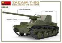 MA35240   Romanian 76mm self-propelled gun Tacam T-60. Interior kit (attach1 39876)