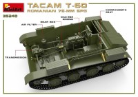 MA35240   Romanian 76mm self-propelled gun Tacam T-60. Interior kit (attach3 39876)