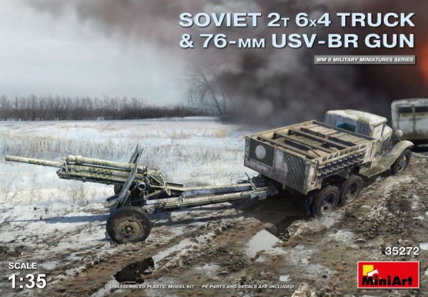 MA35272   Soviet 2 t 6x4 Truck with 76 mm USV-BR Gun (thumb39912)