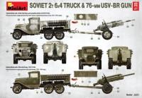 MA35272   Soviet 2 t 6×4 Truck with 76 mm USV-BR Gun (attach1 39912)