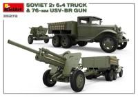 MA35272   Soviet 2 t 6×4 Truck with 76 mm USV-BR Gun (attach2 39912)