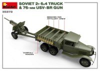 MA35272   Soviet 2 t 6×4 Truck with 76 mm USV-BR Gun (attach6 39912)