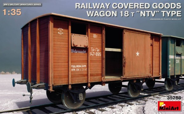 "MA35288   Railway covered goods wagon 18 t ""NTV""-type (thumb39935)"