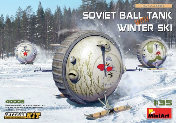 MA40008   Soviet ball tank with winter ski. Interior kit (thumb39843)