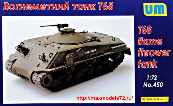 UM450   T68 Flame thrower tank (thumb34040)