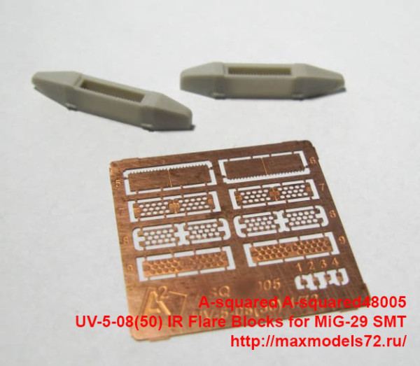 A-squared48005   UV-5-08(50) IR Flare Blocks for MiG-29 SMT. (thumb40506)